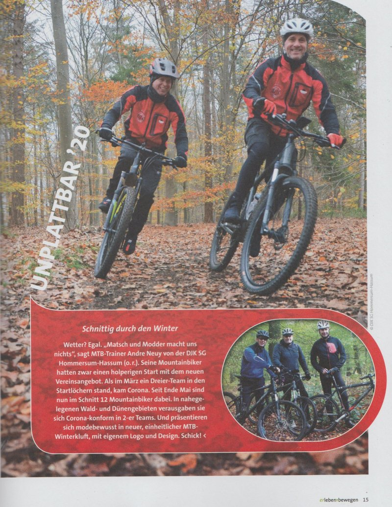 Mountainbiking beu der DJK
